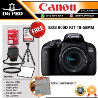 CANON EOS 800D KIT 18-55MM IS STM PAKET - GARANSI CANON DATASCRIP
