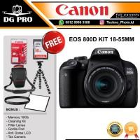 CANON EOS 800D KIT 18-55MM IS STM PAKET BONUS - KAMERA DSLR CANON WIFI