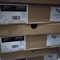 Sepatu Boots Dr Martens 1460 LACELESS BLACK VINTAGE SMOOTH ORIGINAL
