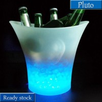5L Glowing LED Ice Bucket Blue Light Champagne Wine Drink Beer Ice