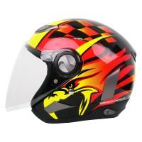 Helm Cargloss Former EAGLE STRIKE Helm Open Face - Orange Deep Black