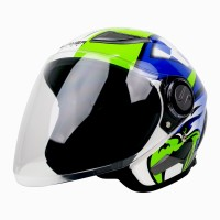 Helm Cargloss Former EAGLE STRIKE Helm Open Face - BLUE SP WHITY WHITE