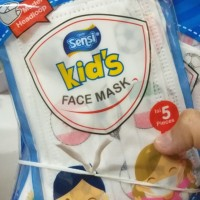 MASKER SENSI KIDS FACE MASK MASKER WAJAH ANAK MODEL HIJAB EARLOOP MASK