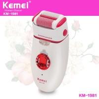 KEMEI KM-1981 3 In 1 Electric Callus Remover Extra Epilator Shaver