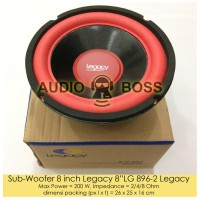 """Promo !!!!!!! Speaker Subwoofer 8 Inch Legacy 8"""" Lg 896-2 /"""