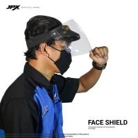 Face Shield/ Kaca APD - Black Doff