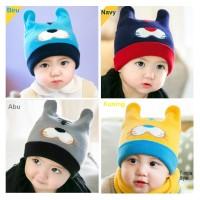 Topi Kupluk Bayi Imut - Topi Kupluk Anak Gemes - Kuning