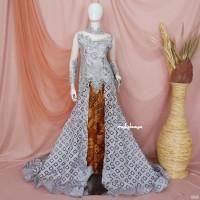 KEBAYA PENGANTIN EKOR MATA DEWA KEBAYA 3D CANTIK WEDDING MODERN GREY