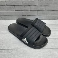 Sandal Adidas Three Stripes Black Import Premium