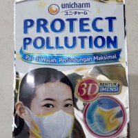 Masker 3D unicharm 3ply isi 2pcs made in Japan