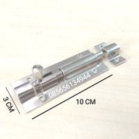 """Grendel 4 Inch Stainless Steel / Slot Pintu 4"""" Bulat 10 cm"""