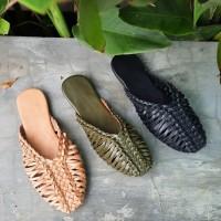 Freya ( Handwoven mules ) , RIDE.INC , Sepatu flat wanita - 42