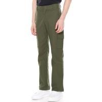Daily Outfits - Celana Panjang Pria Cargo Canvas Hijau Army Premium - M