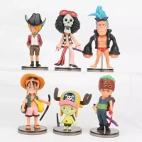 Figure One Piece isi 6 pcs / Topper Cake Kue One Piece