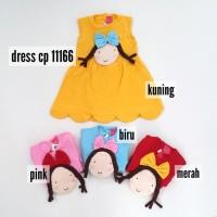 Baju Bayi Perempuan Dress Girl Pita Kepang CP 11166