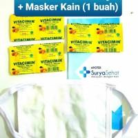 Paket Vitacimin 3 strip +Masker