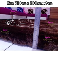 Karpet Bulu Rasfur Premium 3Mx2Mx9cm/Surpet Jumbo Busa Royal Anti Slip