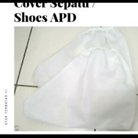 cover sepatu baju APD bahan parasut waterproof