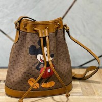 TAS DISNEY X GUCCI SMALL BUCKET BAG WITH MICKEY MOUSE PERFECT QUALITY