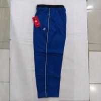 Celana Training Biru List hitam & putih bahan diadora