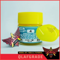 Yellow H4 H 4 AQUEOS - Cat Acrylic Aribrush Model Kit