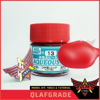Flat Red H13 H 13 AQUEOS - Cat Acrylic Aribrush Model Kit