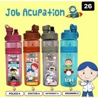 K26 Botol Minum Custom Nama / Printing UV / Doctor / Astronot / Police
