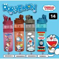 K14 Botol Minum Karakter Custom Nama / Print UV / Doraemon