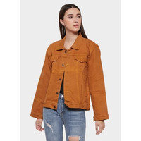 MURAH Jaket Jeans Wanita Warna Terbaru Kuning Kunyit / Jaket CEWE - S