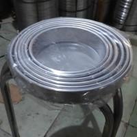 Loyang bulat press / kue bolu cheesecake 1 set uk 16 - 26 tinggi 4 cm