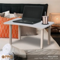 Offo Living Furniture - Meja Kerja/ Meja Laptop Serbaguna WHT