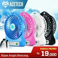 Kipas Angin Mini Portabel Fan - Kipas Mini Cas - Mini Fan Portable-FS - Putih