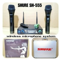 MICROPHONE/MIC WIRELESS SHURE SH-555 UHF KOPER