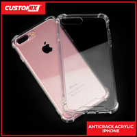 Case Anti Crack Akrilik / AntiShock Fiber Iphone 7 7+ 8 8+ PLUS X XS