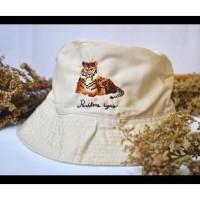 Custom Realistic Animal on Bucket Hat - sulaman tangan by Jahitan oma