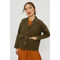 RAMUNE Joie Pocket Outer ( Olive )