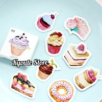 45 pcs Sticker Delicious Cake Scrapbook DIY Bujo Planner Diary Journal