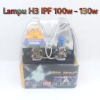 Lampu Bohlam H3 100w-130w Euro White Max 12v (Cuci Gudang)