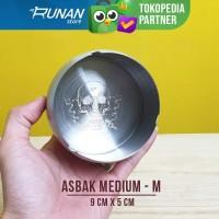 Asbak Stainless Medium Conalli Ash Tray Motif Tengkorak M 9cm