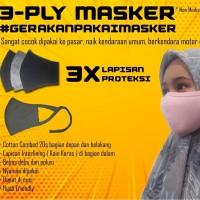 Masker Kain 100% Katun Combed 20s 3 Ply / 3 Lapis