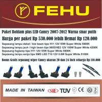 Paket bohlam Fehu plus LED Toyota Camry 2.4 2007-2011. Sinar putih