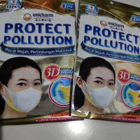 Masker Unicharm protect pollution 3D asli Japan