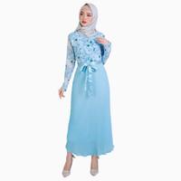 Long Dress gamis Lengan Panjang Muslimah terbaru - Jfashion Karima