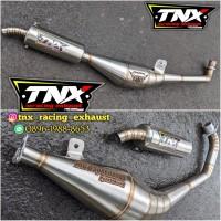 Knalpot Satria 2 Tak & F1ZR Stainless + Tulis Nama Laser TNX Racing