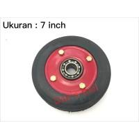Roda Lorry 7 inch Double Bearing / Troli / Trolley / Lori