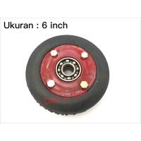 Roda Lorry 6 inch Double Bearing / Troli / Trolley / Lori