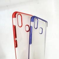 VIVO Y91 / Y93 / Y95 Silikon Bening List Chrome Soft Case Casing Slim