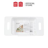 MINISO Rak Wastafel Dapur Mangkuk Pengering Penyimpanan Keranjang
