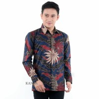 Kemeja Batik Pria Lengan Panjang Terbaru | Baju Batik Pria Murah - Nevy, M