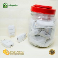 Adapter Charger JSC-OM 2.4A Single Port Batok Charger Toples isi 25PCS